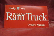 2002 DODGE Ram Truck Owner Manual OEM Part # 81-326-0227
