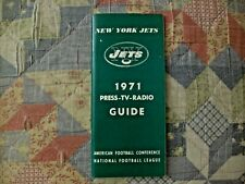 1971 NEW YORK JETS MEDIA GUIDE Press Book Program Yearbook NFL Football NY AD