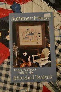 OOP! Blackbird Designs Loose Feathers #14 - SUMMER HOUSE Sampler