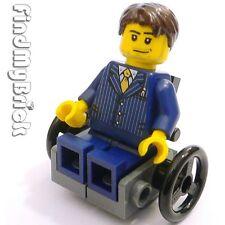 M011B W Lego City Minifigure with Custom Wheelchair NEW