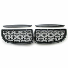 For BMW 3 Series E90 E91 05-08 Diamond Black Front Kidney Dual Slat Grill Grille