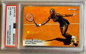 2003 NETPRO TENNIS #1 SERENA WILLIAMS RC ROOKIE CARD PSA 10 GEM MINT LOW POP