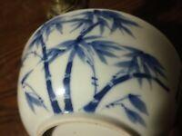 bol, Hué indochine, porcelaine.19°s  bambous. fleurs.