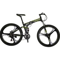 "27.5"" Folding Mountain bike Shimano 21 Speed Mens Bicycle Full Suspension MTB L"