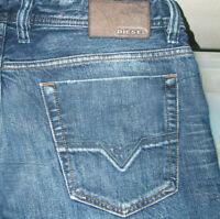 HOT Men DIESEL VIKER-R-BOX 8SS STRAIGHT LEG Zipper DARK Jeans 34 x32 (Fit 34x33)
