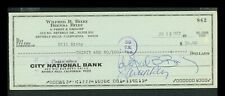 Bill Bixby - The Incredible Hulk - Autgraphed/Signed Check Front and Back (1972)