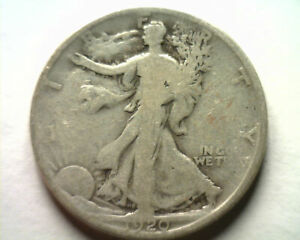 1920-S WALKING LIBERTY HALF GOOD / VERY GOOD G/VG NICE ORIGINAL COIN BOBS COINS
