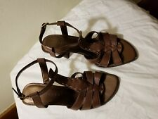 Apostrophe Brown Leather Strappy Sandal Size 6.5