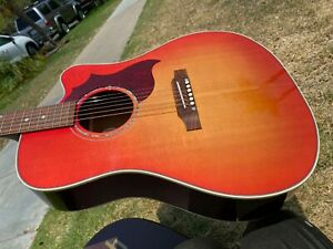 Gibson Hummingbird Sunburst AG Mahogany Acoustic Electric LR Baggs Martin String