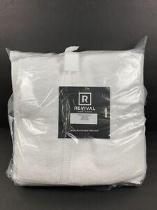 Revival New York 6 Piece 100% Cotton Bath Towel Set White New