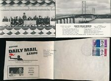 GB 1964 FORTH ROAD BRIDGE OPENING...REAL PHOTO PPCs + SCOTTISH DAILY MAIL