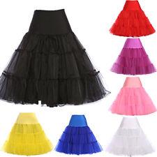 Vintage Petticoat Wedding Crinoline Underskirt Full-Circle Tutu Net Skirts S-XL