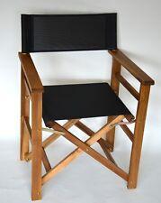 Outdoor Gartenstuhl Regiestuhl mit Durasling Taupe Landhaussessel Sessel