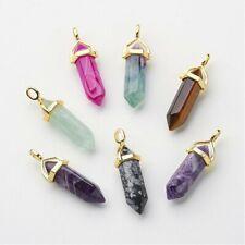 Colgante de piedras preciosas naturales-Varios Colores