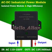 AC-DC Voltage Converter 120V 230V to 12V 600mA 7W Isolated Power Supply Module