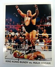KING KONG BUNDY Autographed 8x10 PHOTO WWF Legend PRO WRESTLER Actor HOGAN PC911