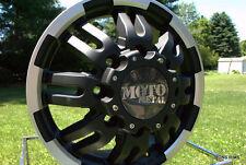 "MOTO METAL BLACK MACHINED 963  DUALLY 16"" X 6"" FORD CHEVY DODGE GMC RIMS LUGS"