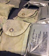 US dressing First Aid Field Camouflage 4 by 6 1/4 to 7 1/4in each E3341 & Pouch