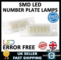 SKODA SUPERB XENON WHITE SMD LED NUMBER PLATE LAMPS UPGRADE BULBS CANBUS