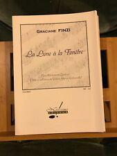 Graciane Finzi La lune à la fenêtre pour récitant et quatuor partition Notissimo