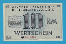 Germany Winterhilfswerk WHW 10 RM 1941-42 S/B-Kroll 404 Block A As Issued