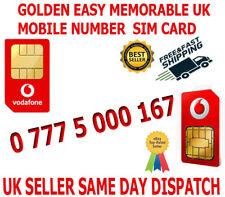GOLDEN EASY MEMORABLE UK VIP MOBILE PHONE NUMBER 0 777 5 000 167  PLATINUM SIM