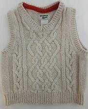 Osh Kosh BGosh Boys Girls 12m Cable Knit Sweater Fisherman Vest Cotton Blend
