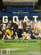 February 11, 2019 New England Patriots Super Bowl Sports Illustrated NO LABEL