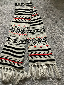 Large Warm Scarf, Aztec Print, Soft And Colourful.