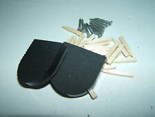 "SMARTS QUALITY RBV 1&1/4"" (32 x 6mm) HEEL TOPS STICK-ON NAIL-ON BLACK TEXTURED"
