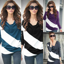 Cotton Blend Striped Tops & Shirts for Women