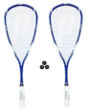 2 x Prince Exo3 Team Warrior 1000 Squash Rackets + 3 Squash Balls Rrp £395