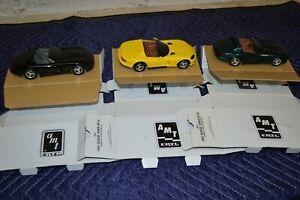 AMT Ertl 1993 Black 1994 Dandelion1995 Emerald Green Dodge Viper RT/10 Promo Car
