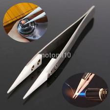 New Fine Pointed Heat Resistant Stainless Steel Ceramic Tweezers US
