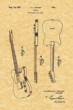 Patent Print - Vintage Fender Electric Guitar 1951. Ready To Be Framed!