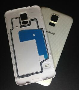 For Samsung Galaxy S5 I9600 G900F White Battery Back Rear Cover Case Door