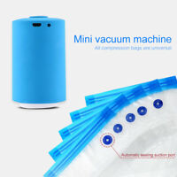 Mini Food Vacuum Sealer Pump Rechargeable Compress for Food Storage Space Saving