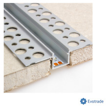 Profilo alluminio 2mt incasso scomparsa cartongesso per strip LED + cover OPC