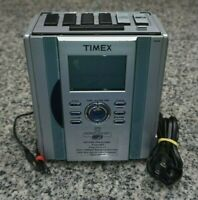 Timex T626S Stereo CD Clock AM/FM Radio MP3 Line In AUX Tested Cleaned Free Ship