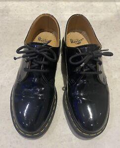Doc Marten Shoes 1461 Black Patent Leather 3hole UK 5/38