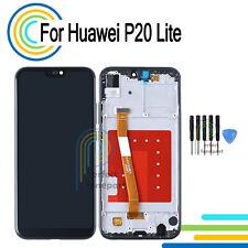 Para Huawei P20 Lite Pantalla Táctil LCD de Pantalla de Digitalizador Negro Marco de reemplazo