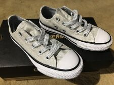 6f87483358d4 Converse CTAS Double Tongue White Silver Wolf Grey 659348F Junior Size 11