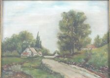 M.M. Tilden Original Oil Painting of a Country Farm