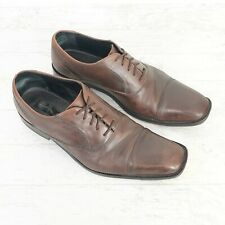 Bostonian Luxe Genuine Leather Dress Shoes Men's Size 10M Dark Brown Lace Up