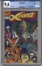 X-FORCE #1 CGC 9.6 WHITE PGS POLY-BAG REMOVED UPC +&- ROB LIEFELD