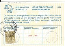 127) Italy uprated International Reply Coupon 300 + 50 lire Trento