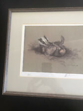 Mick Cawston - Badger - *framed* Signed Limited Edition Print on Paper