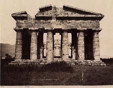 Photo Giorgio Sommer Albuminé Paestum Salerne Italie Italia Vers 1880