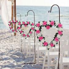 1pc Artificial Silk Rose Heart Wreath Wall Garland Wedding Party Adornment Decor
