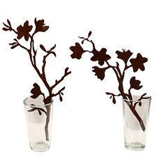 Saremo Magnolien Zweige 2er Set 50cm Rost Metalldesign Edelrost Gartenstecker